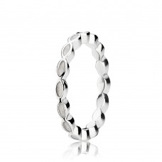 ring Pandora white enamel - 301010