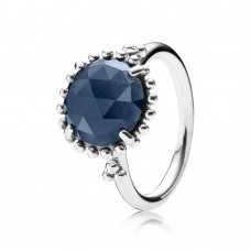 ring Pandora zilver midnight blue - 600795