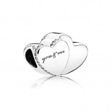 Pandora charm zilver Two Hearts - 306315