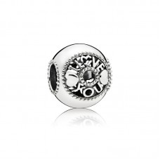 Pandora charm zilver I love you - 607378