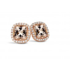 You & Me oorstekers rosé goud morganite - 607176