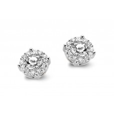 You & Me oorstekers wit goud zirconia - 609012