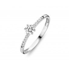You & Me solitair wit goud zirconia - 609017