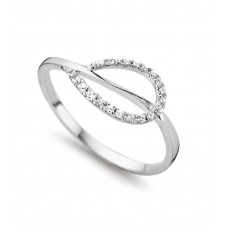 Cara ring wit goud zi - 607012